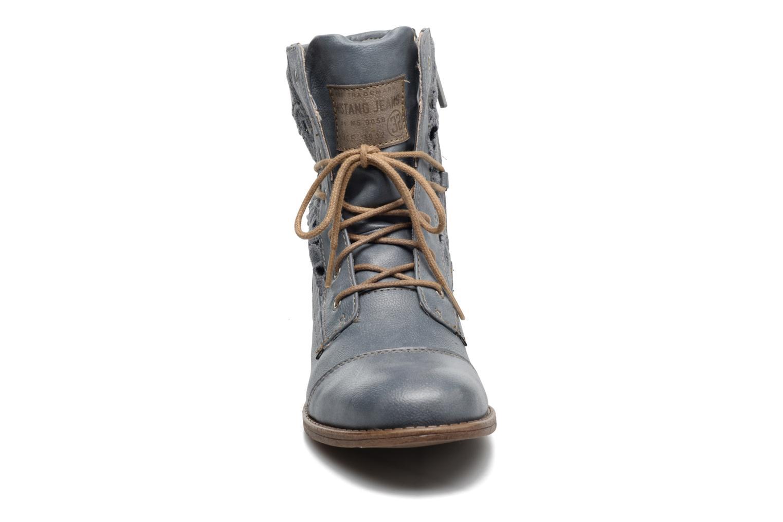 Bottines et boots Mustang shoes Freeze Bleu vue portées chaussures
