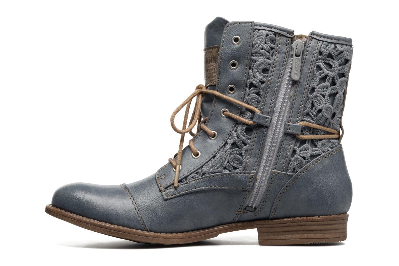Bottines et boots Mustang shoes Freeze Bleu vue face