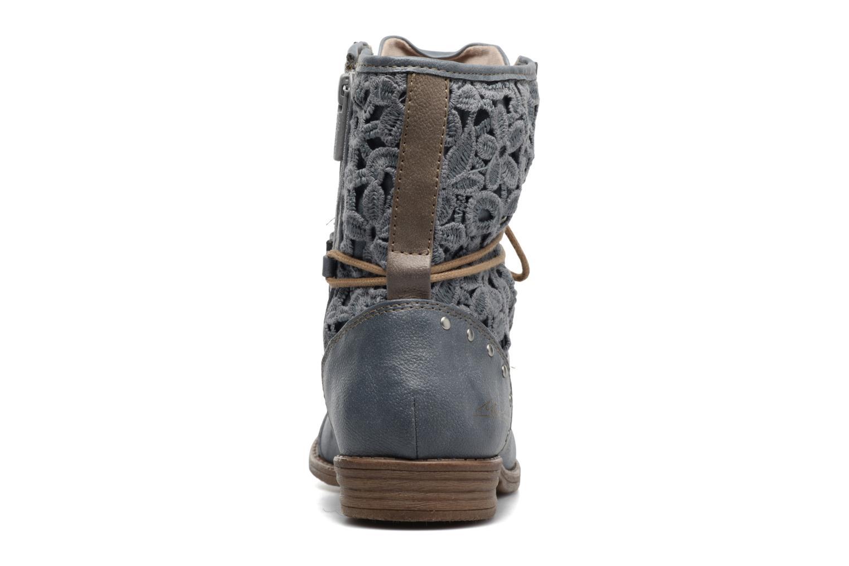 Bottines et boots Mustang shoes Freeze Bleu vue droite