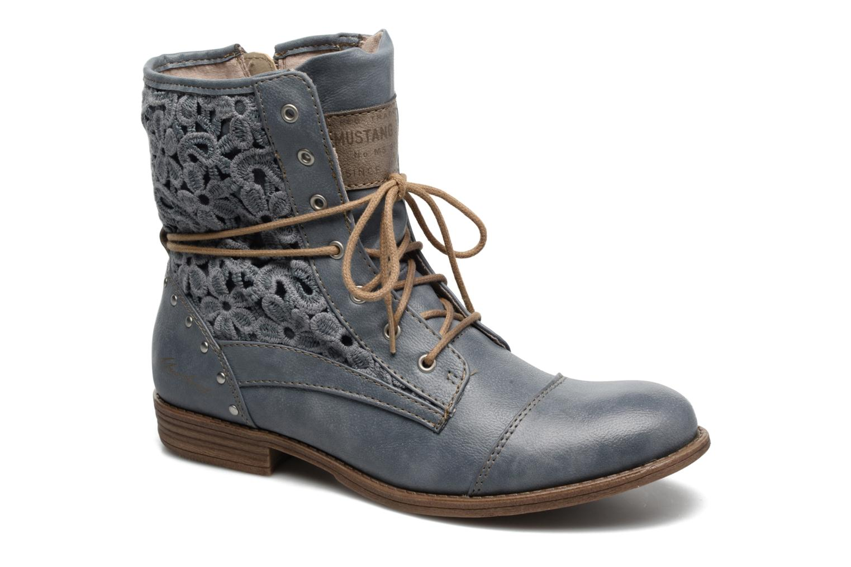 Bottines et boots Mustang shoes Freeze Bleu vue détail/paire