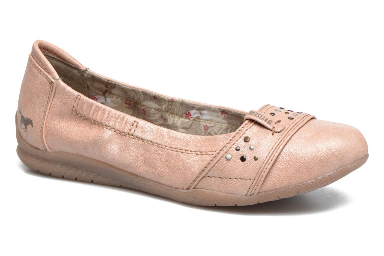 Ballerines Mustang shoes Lisle Orange vue détail/paire