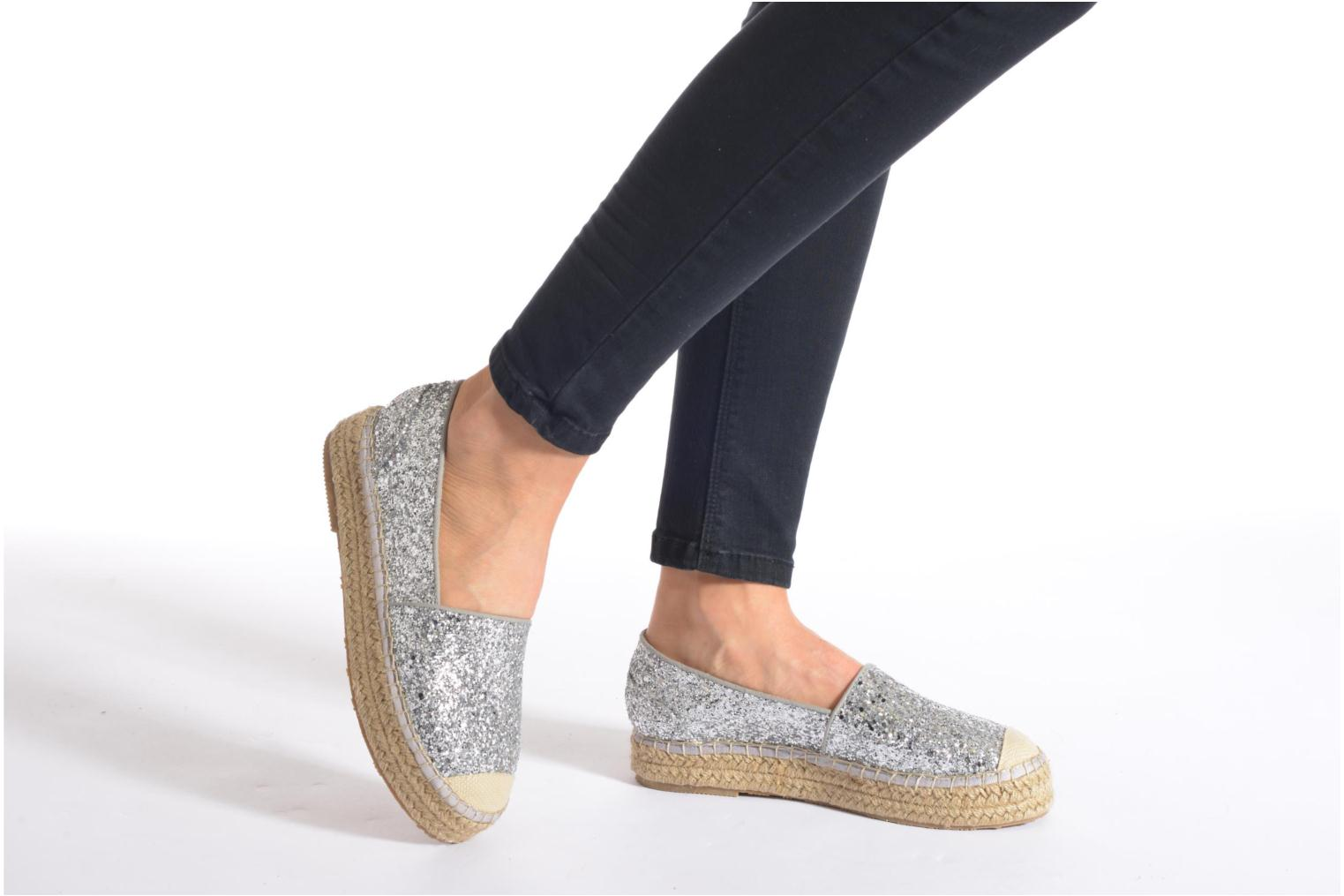 Espadrilles Mustang shoes Brouw Silver view from underneath / model view