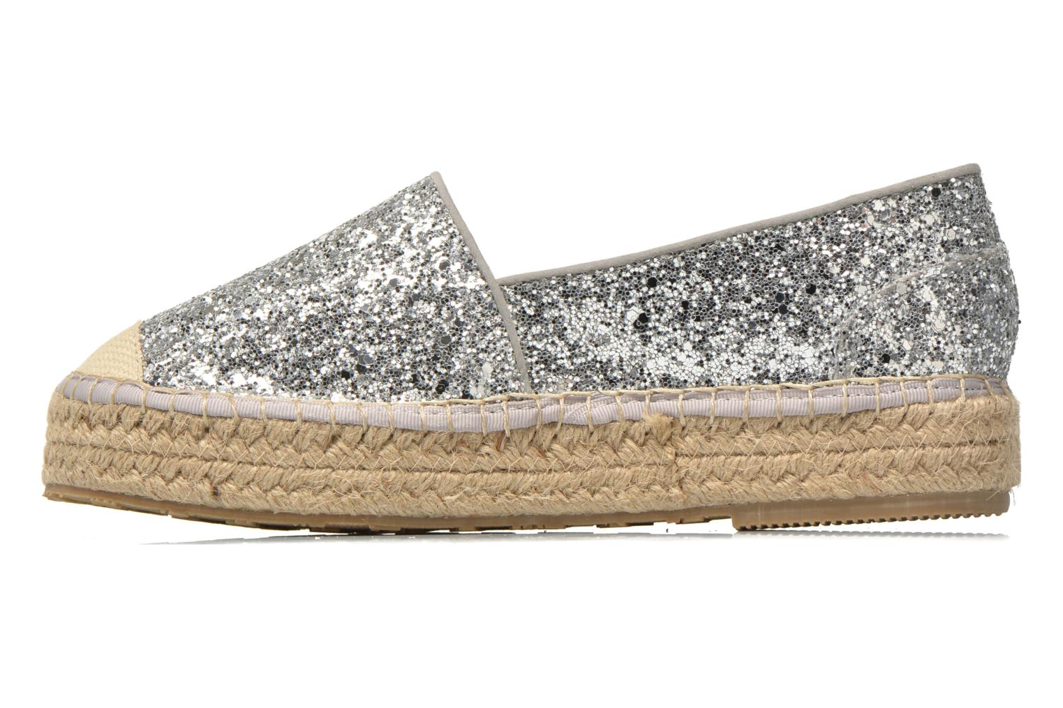 Espadrilles Mustang shoes Brouw Silver front view
