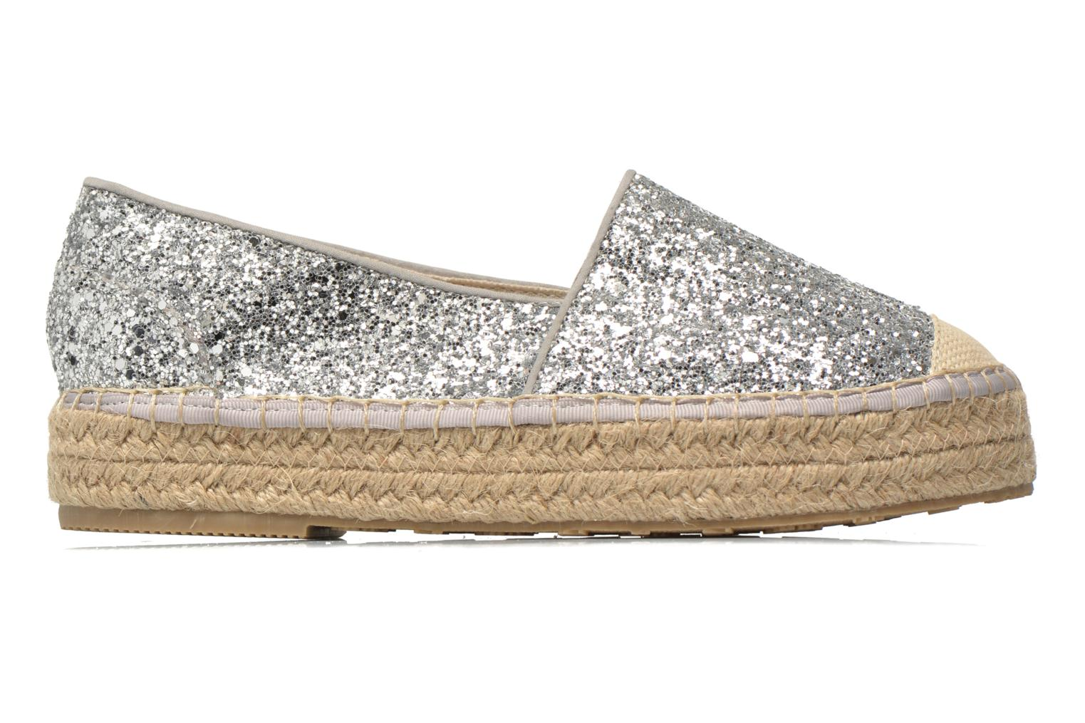 Espadrilles Mustang shoes Brouw Silver back view