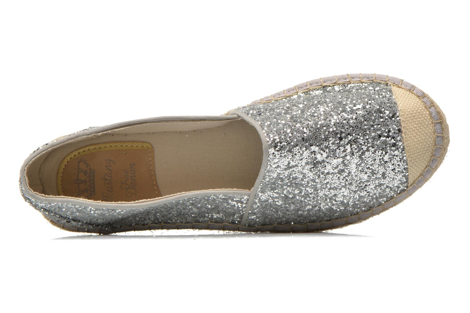 Espadrilles Mustang shoes Brouw Silver view from the left