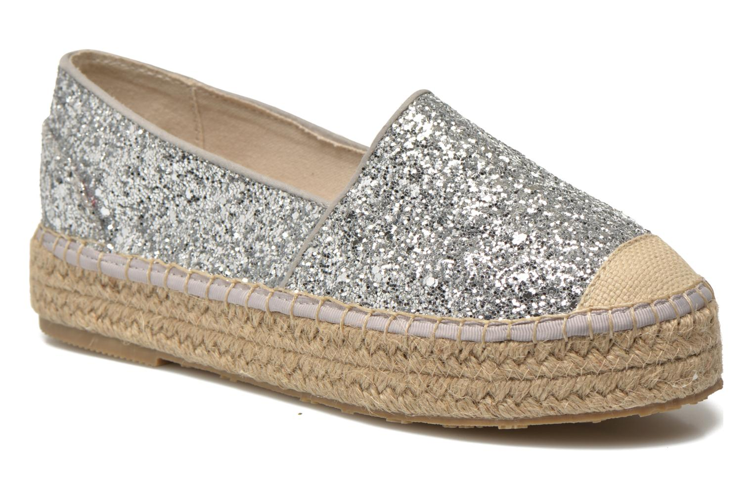 Espadrilles Mustang shoes Brouw Silver detailed view/ Pair view
