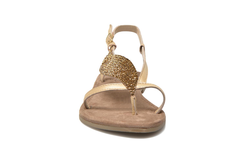 Sandalen Mustang shoes Hom gold/bronze schuhe getragen