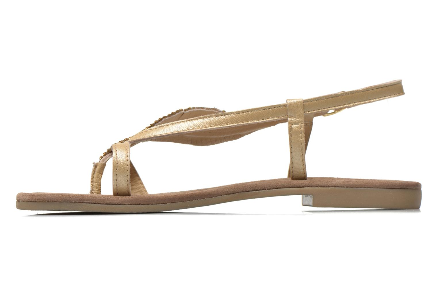 Sandals Mustang shoes Hom Bronze and Gold front view