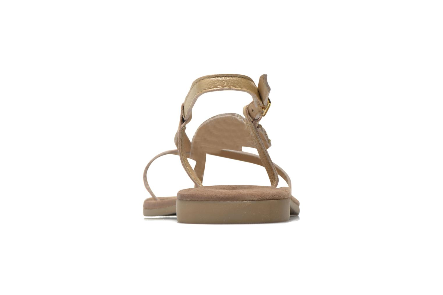 Sandals Mustang shoes Hom Bronze and Gold view from the right
