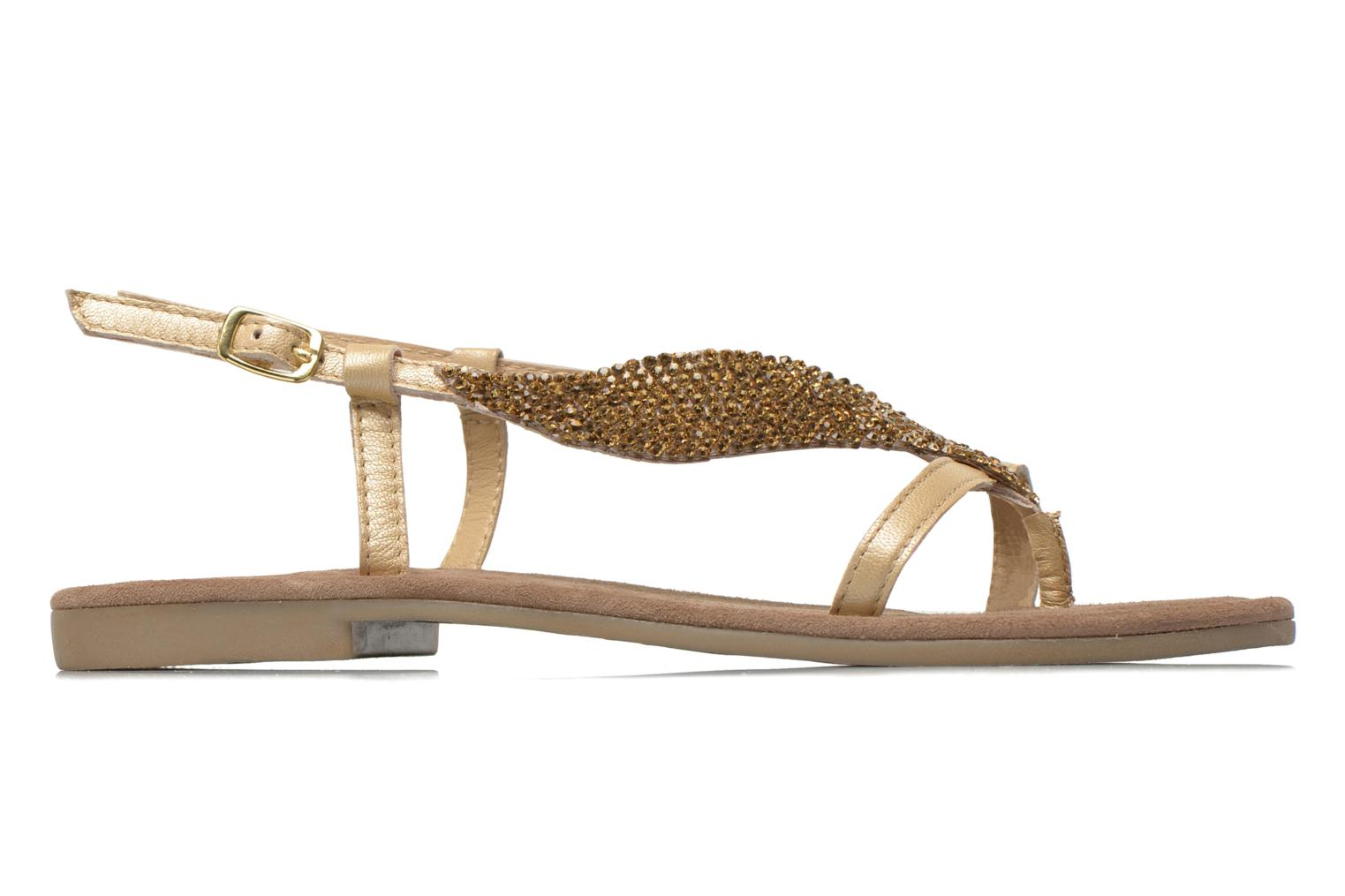 Sandals Mustang shoes Hom Bronze and Gold back view