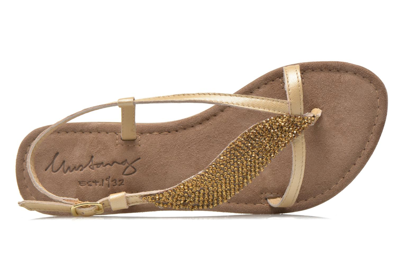 Sandals Mustang shoes Hom Bronze and Gold view from the left
