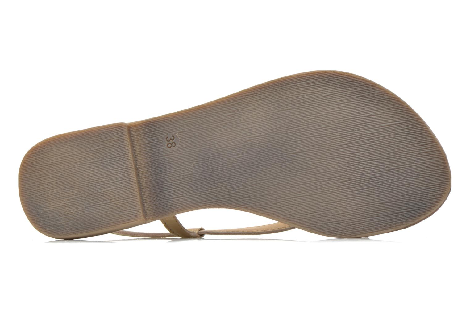 Sandals Mustang shoes Hom Bronze and Gold view from above