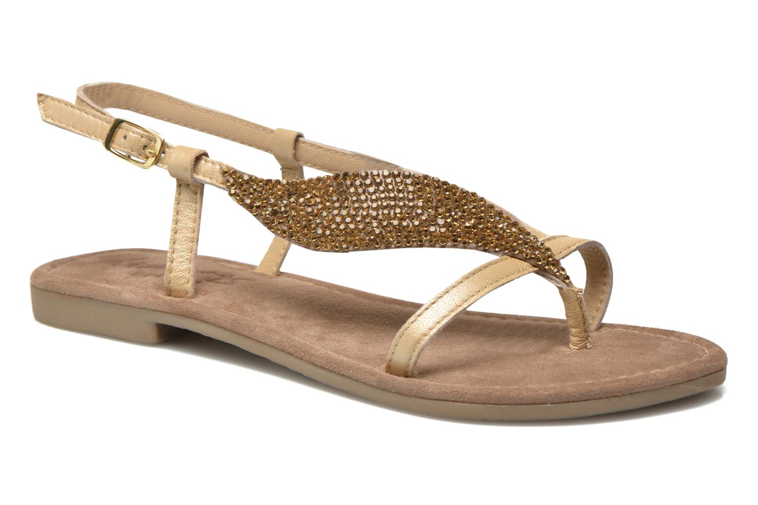 Sandals Mustang shoes Hom Bronze and Gold detailed view/ Pair view
