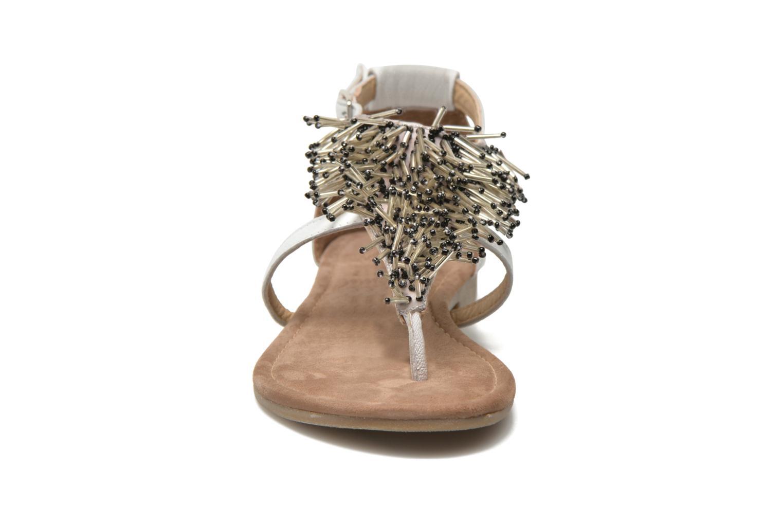 Sandales et nu-pieds Mustang shoes Hum Blanc vue portées chaussures