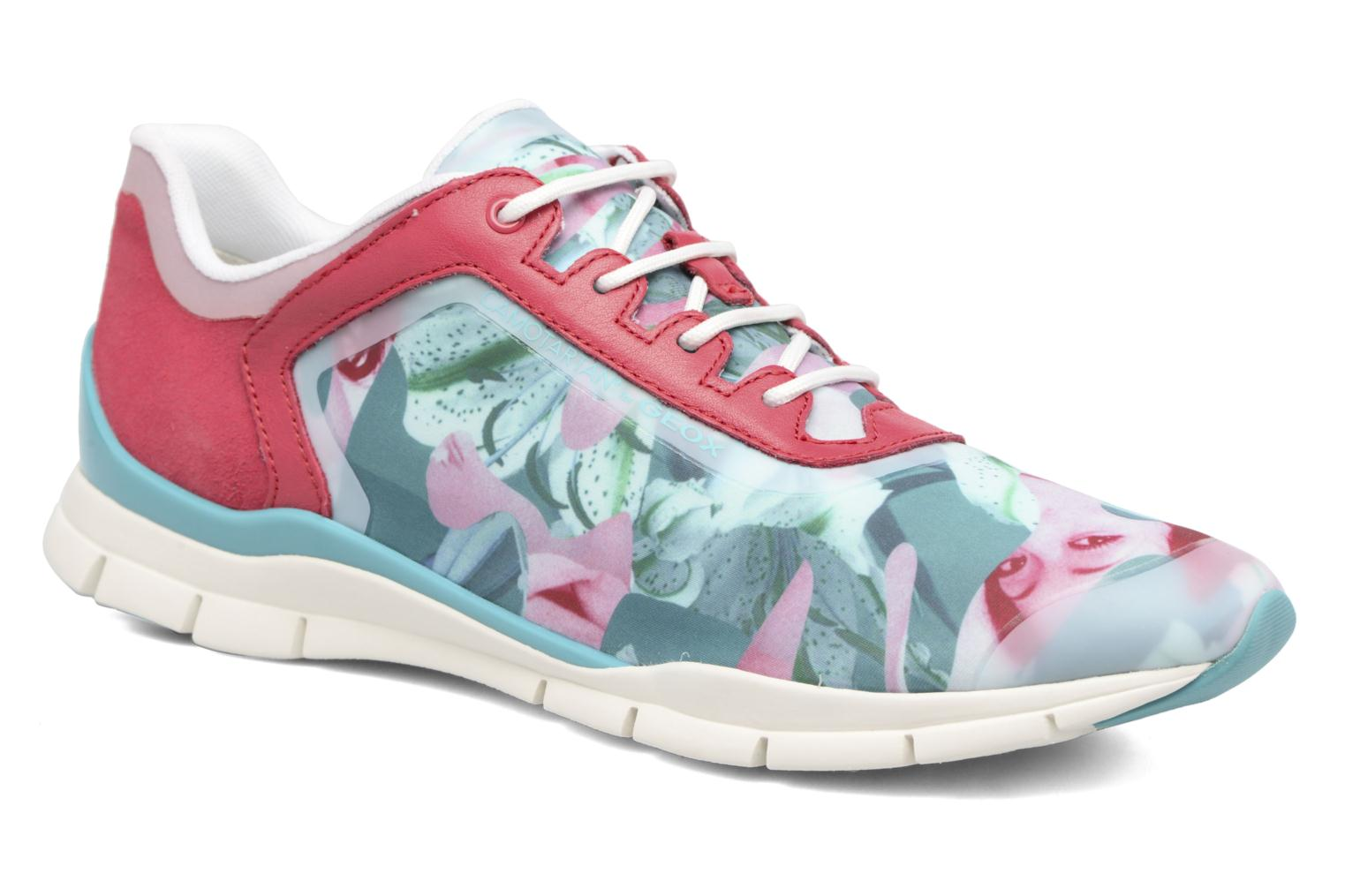 Sneakers Geox D SUKIE E D62F2E Rood detail