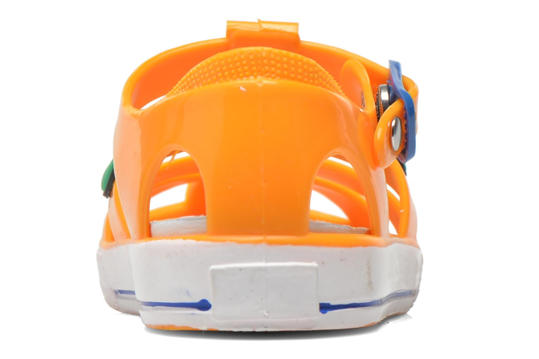 Sandales et nu-pieds Colors of California Jelly sandals CROCO Orange vue droite