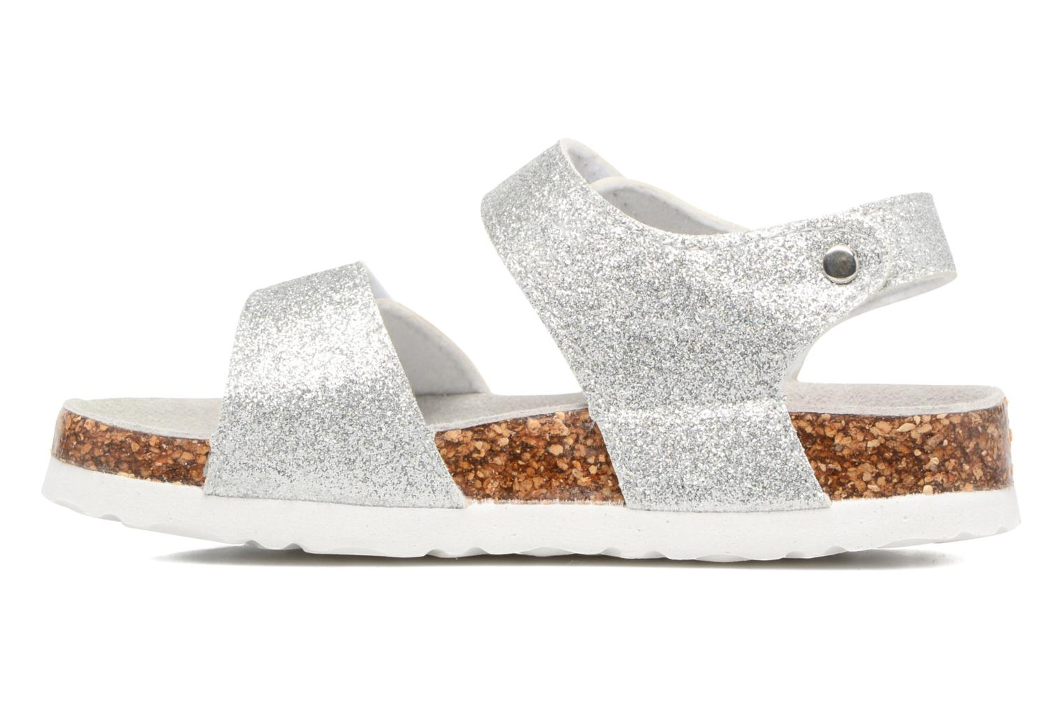 Sandales et nu-pieds Colors of California Bio Laminated Sandals Argent vue face