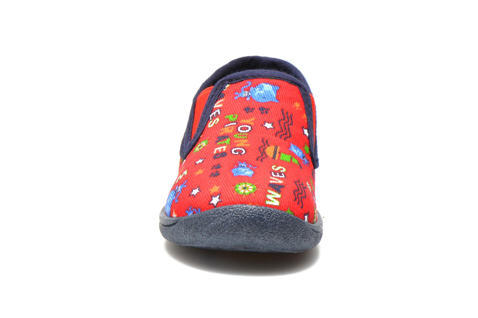 Chaussons Rondinaud Jimmy Rouge vue portées chaussures