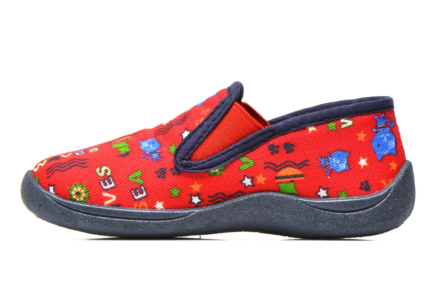 Chaussons Rondinaud Jimmy Rouge vue face