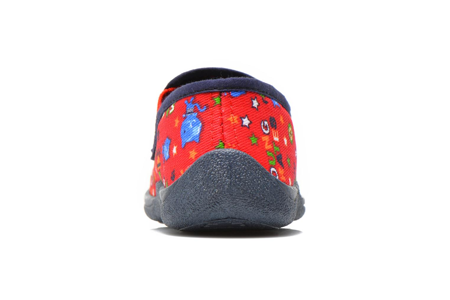 Chaussons Rondinaud Jimmy Rouge vue droite