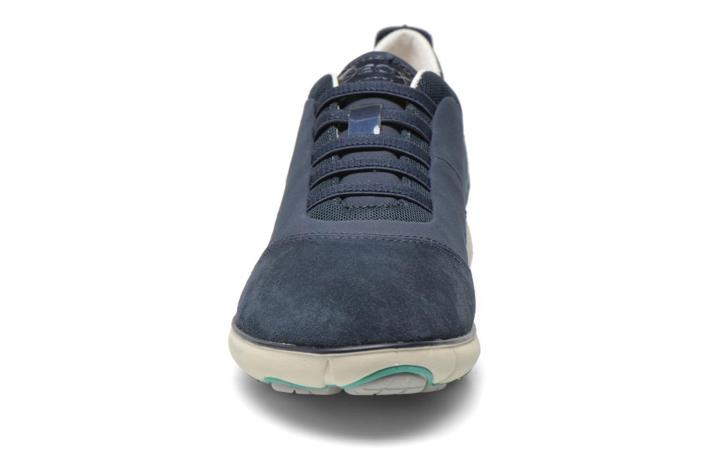 Baskets Geox D NEBULA C D621EC Bleu vue portées chaussures
