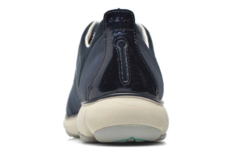 Baskets Geox D NEBULA C D621EC Bleu vue droite