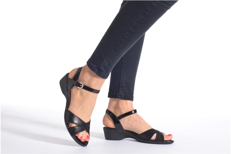 Sandales et nu-pieds Geox D NEW CORAL C D62S3C Noir vue bas / vue portée sac