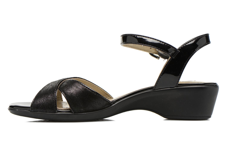 Sandales et nu-pieds Geox D NEW CORAL C D62S3C Noir vue face