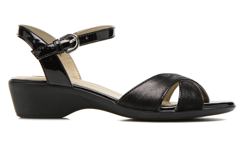 Sandales et nu-pieds Geox D NEW CORAL C D62S3C Noir vue derrière