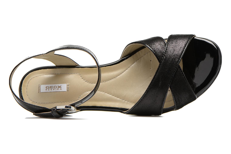 Sandales et nu-pieds Geox D NEW CORAL C D62S3C Noir vue gauche