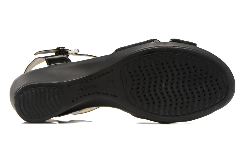 Sandales et nu-pieds Geox D NEW CORAL C D62S3C Noir vue haut