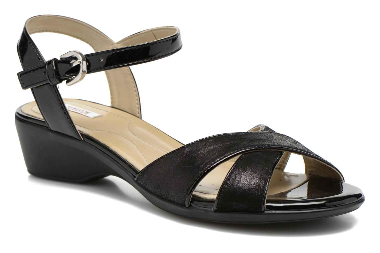 Sandales et nu-pieds Geox D NEW CORAL C D62S3C Noir vue détail/paire