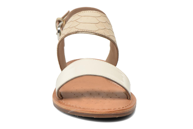 Sandalen Geox D SOZY A D622CA beige schuhe getragen