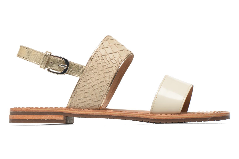 Sandalen Geox D SOZY A D622CA beige ansicht von hinten
