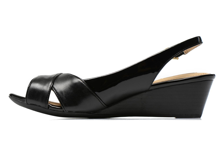 Sandales et nu-pieds Geox D FLORALIE B D62T4B Noir vue face
