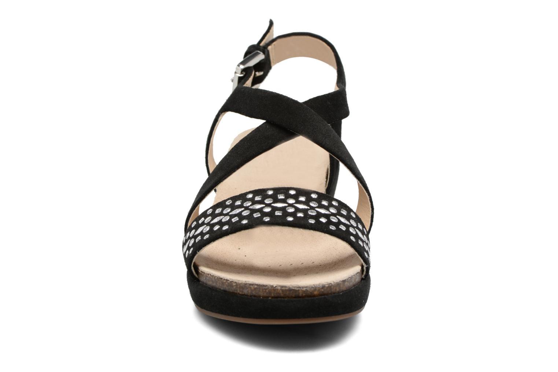 Sandales et nu-pieds Geox D ABBIE F D62P6F Noir vue portées chaussures