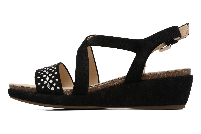 Sandales et nu-pieds Geox D ABBIE F D62P6F Noir vue face