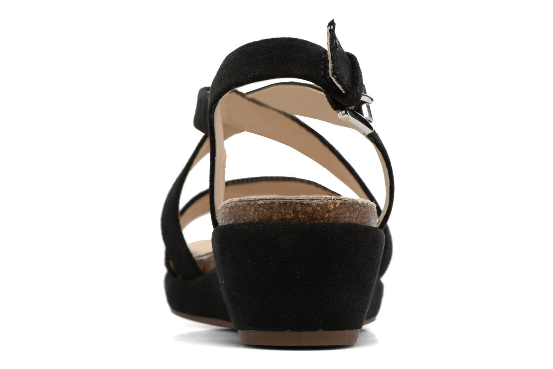 Sandales et nu-pieds Geox D ABBIE F D62P6F Noir vue droite