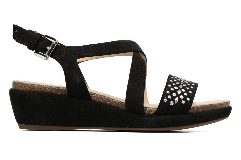 Sandales et nu-pieds Geox D ABBIE F D62P6F Noir vue derrière