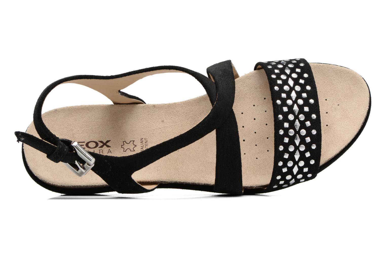 Sandales et nu-pieds Geox D ABBIE F D62P6F Noir vue gauche
