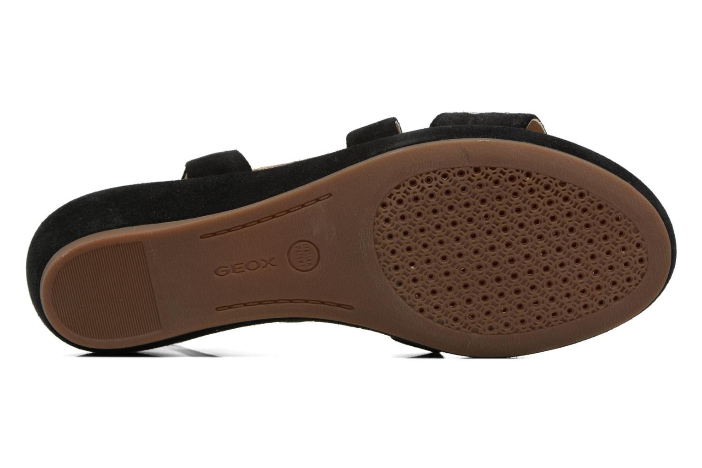 Sandales et nu-pieds Geox D ABBIE F D62P6F Noir vue haut