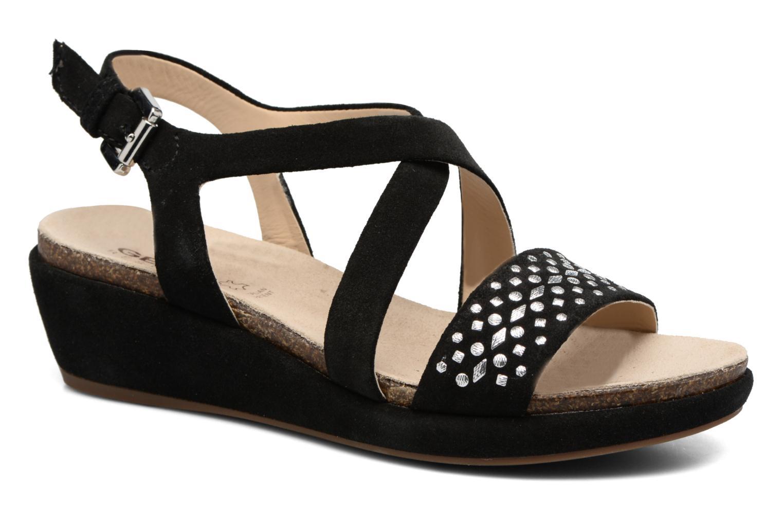 Sandales et nu-pieds Geox D ABBIE F D62P6F Noir vue détail/paire