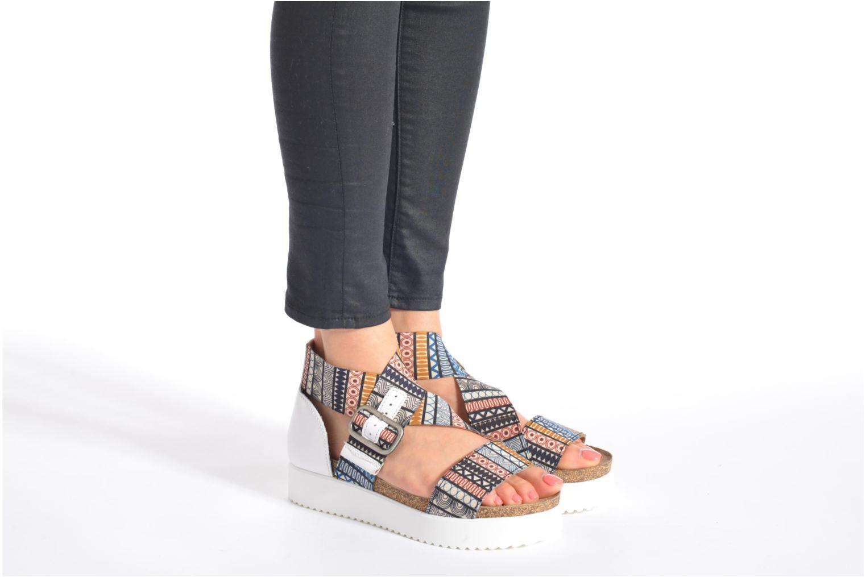 Sandales et nu-pieds P-L-D-M By Palladium Value Fts Noir vue bas / vue portée sac