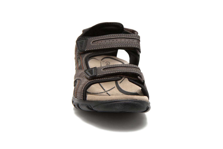 Sandales et nu-pieds Geox U S.STRADA A U6224A Marron vue portées chaussures