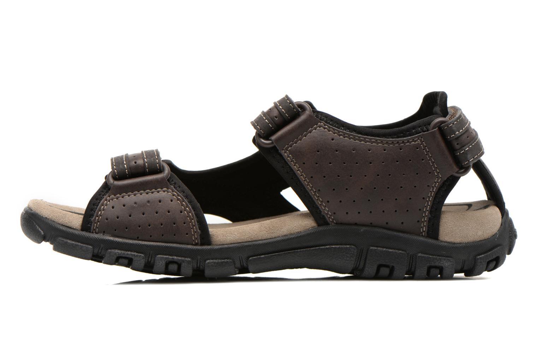 Sandales et nu-pieds Geox U S.STRADA A U6224A Marron vue face
