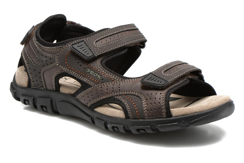 Sandals Geox U S.STRADA A U6224A Brown detailed view/ Pair view