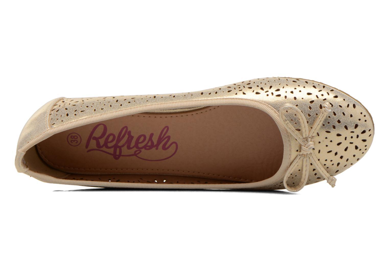 Ballerinas Refresh Coline 61818 gold/bronze ansicht von links
