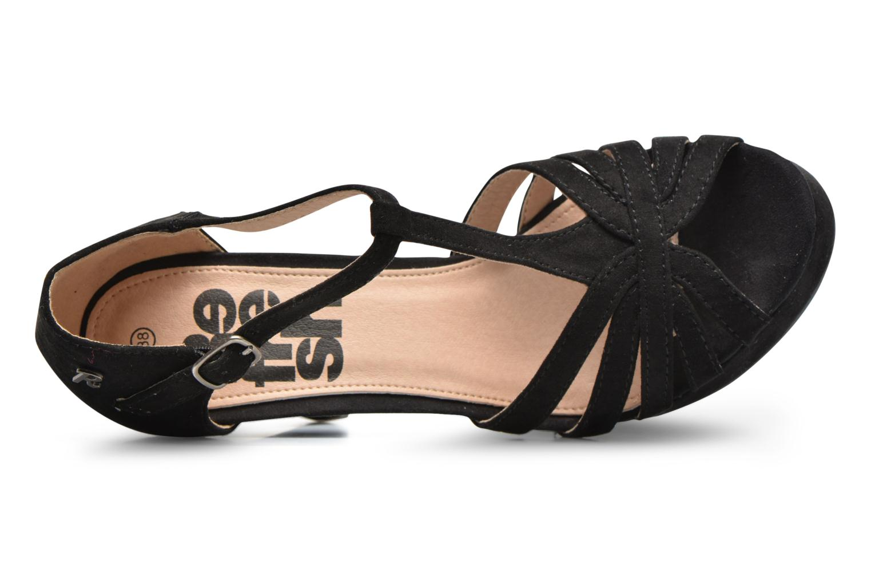 Sandales et nu-pieds Refresh Party 61758 Noir vue gauche