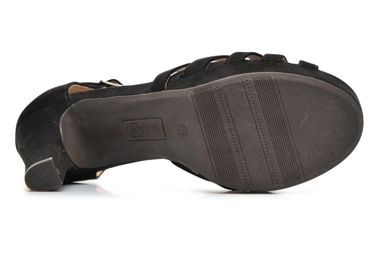 Sandales et nu-pieds Refresh Party 61758 Noir vue haut