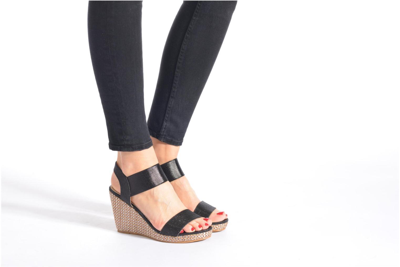 Sandales et nu-pieds Eclipse Espadrille Topaz Noir vue bas / vue portée sac
